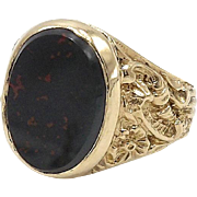 Vintage 9kt Gold and Bloodstone Ring