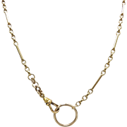 Victorian 9kt and 12kt Gold Chain Necklace