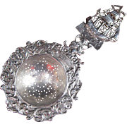 Figural Hanau Silver (800) Sailing Ship Tea Strainer