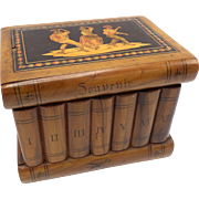Antique Tunbridge Ware Souvenir Book Box