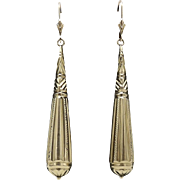 15KT Gold Victorian architectural Revival Earrings