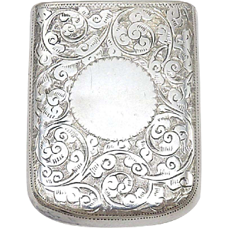 Victorian Silver Plated Mechanical Match Safe