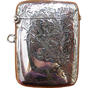 English Sterling Silver Vesta or Match Safe