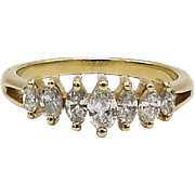 14KT Gold Marquise Cut Diamond Ring