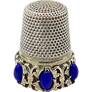 Sterling Silver and Lapis Thimble