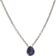 Stunning 14K White Gold and Tanzanite Necklace