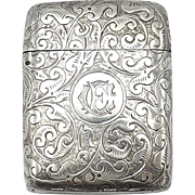 Sterling Silver Match Safe, circa 1887
