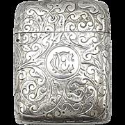 Sterling Silver Match Safe, circa 1887