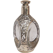 Chinese Silver Overlay Glass Pinched Decanter