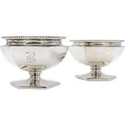 Early 20th Century Sterling Silver Salt Cellars by Roger Williams Silver Co.