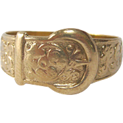 Lovely 9Kt Gold Belt Buckle Ring