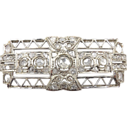 Vintage Art Deco Diamond Brooch