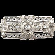 Vintage Art Deco Diamond Brooch
