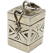 Sterling Silver Box Charm or Pendant