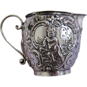Silver Hanau Creamer with Children Playing
