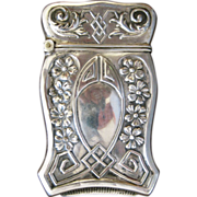 Shaped Webster Co. Sterling Silver Match Safe