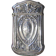 Webster Co. Sterling Silver Match Safe with Florals