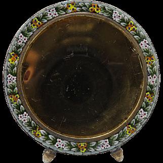Art Nouveau Italian Micro-Mosaic Circular Frame