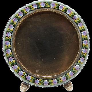 Art Nouveau Micro-Mosaic Italian Circle-Frame