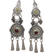 800 Silver Tribal Uzbekistan Earrings