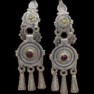 800 Silver Tribal Uzbekistan Earrings