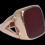 Charming 9k Gold Blank Carnelian Signet Ring