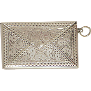Lovely Antique 925 Silver Envelope Pendant