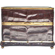 Alligator and Glass Jewelry Casket