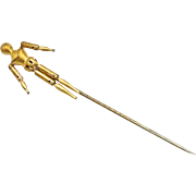 Articulated 9kt Gold Artist Model Stick Pin