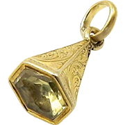 Rare Early Victorian William Shakespeare Watch Fob Pendant