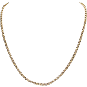 Stunning 9kt Gold Belcher Chain and 14kt Gold Pendant Necklace