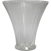 R. Lalique Epis Glass Vase