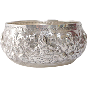 Intricate Sterling Silver Burmese Bowl