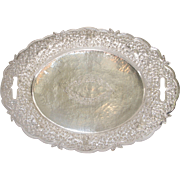 Incredibly Intricate Sterling Silver Burmese Platter