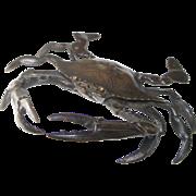 Meiji-era Bronze Crab, circa 1890.