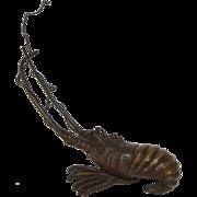 Meiji Era Bronze Spiny Lobster