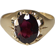 9kt Gold and Rhodolite Garnet Unisex Dress Ring