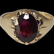 9kt Gold and Rhodolite Garnet Unisex Dress Ring