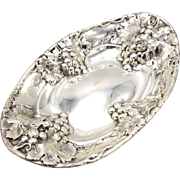 Mauser Sterling Silver Grape Clusters Bread Bowl, circa 1900