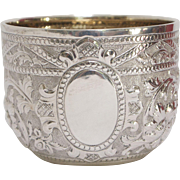 French Sterling Silver Repoussé Bowl with English Import Marks, circa 1892