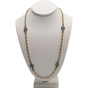 14kt Gold and Sterling Silver Chain Necklace