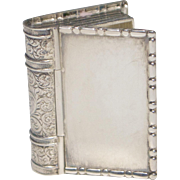 Vintage Sterling Silver Figural Book Box