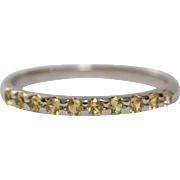18kt White Gold and Yellow Sapphire Eternity Band