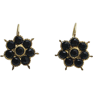 Victorian-era 14kt Gold and Onyx Mourning Earrings