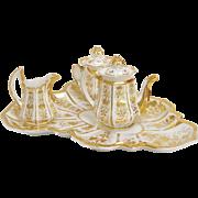 Vieux Paris Gilded Porcelain Tea Service Set
