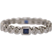 18kt White Gold, Diamond and Sapphire Eternity Ring