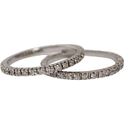Sizable 14 K White Gold and Diamond Eternity Band