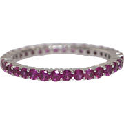18kt White Gold and Pink Sapphire Eternity Band