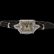 Art Deco Platinum and Diamond Wristwatch by Concord