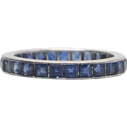 Platinum and Sapphire Eternity Band 2.35 ctw